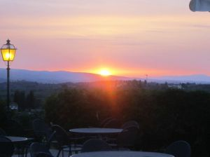 sunset at Fizzano